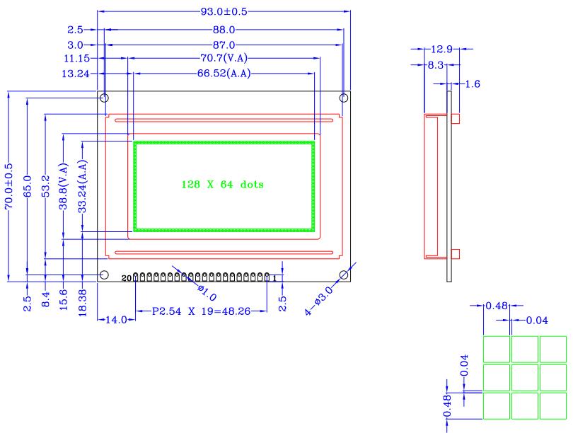 12864d液晶显示模块